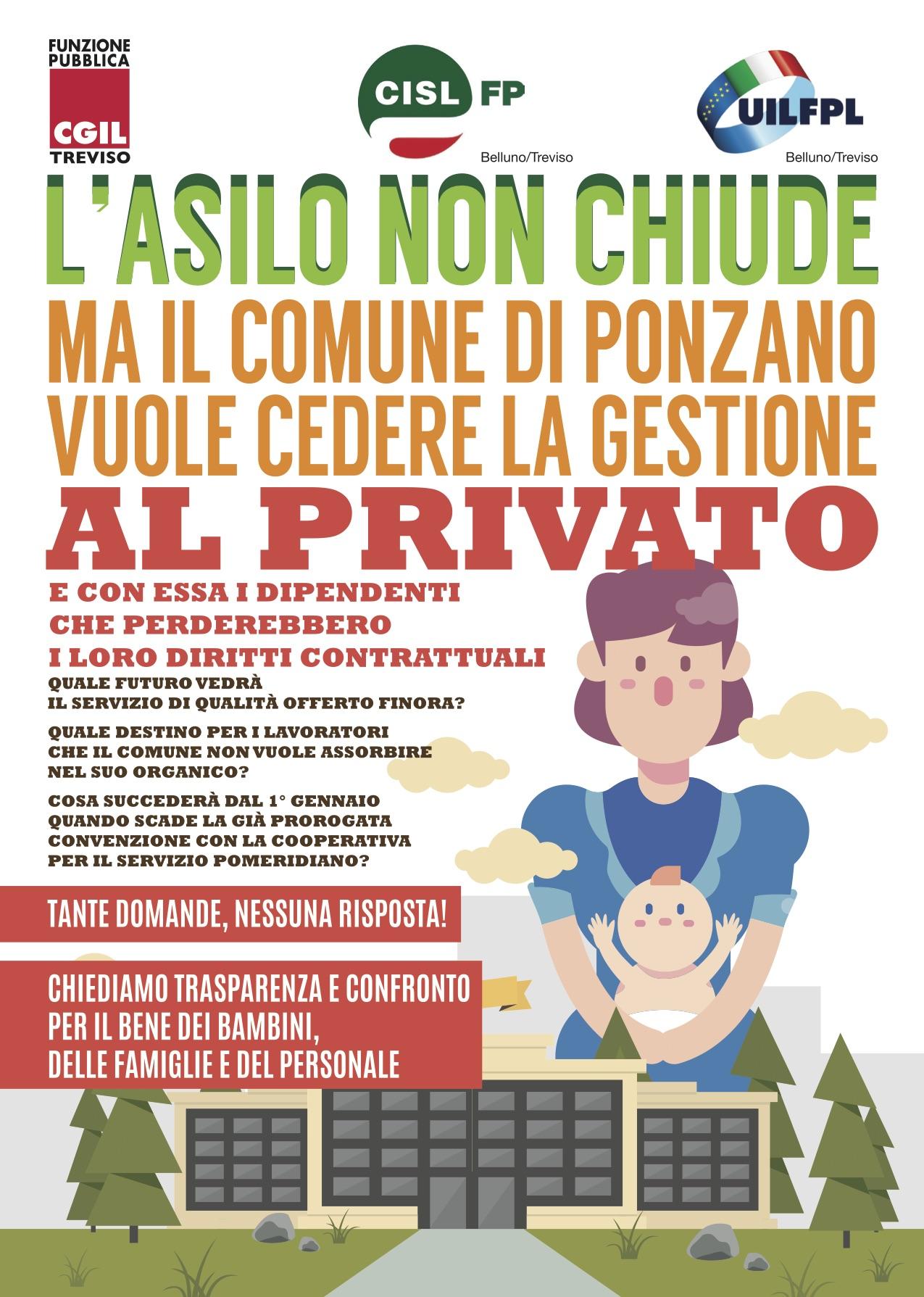 Comune Di Ponzano Veneto asilo comunale di ponzano, lavoratori appesi a un filo